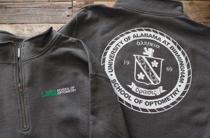 UAB Optometry Pullovers