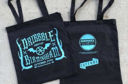 Dribbble Meetup Tote Bags