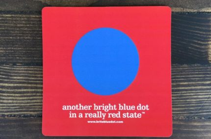 Bright Blue Dot Car Magnets